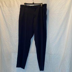 Men's Navy Blue Modern Fit Perry Ellis Pants